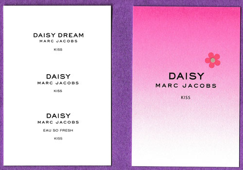 2017 - MARC JACOBS : DAISY KISS : RECTO & VERSO