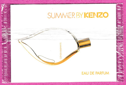 SUMMER BY KENZO - EAU DE PARFUM, CARTE SOUS CELLOPHANE : VERSO