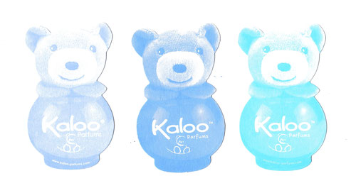 LOT DE 3 CARTES KALOO - DE COULEUR BLEU DIFFERENT