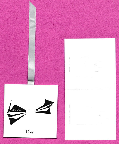 MISS DIOR - 2 CARTES ATTACHEES DANS ENVELOPPE