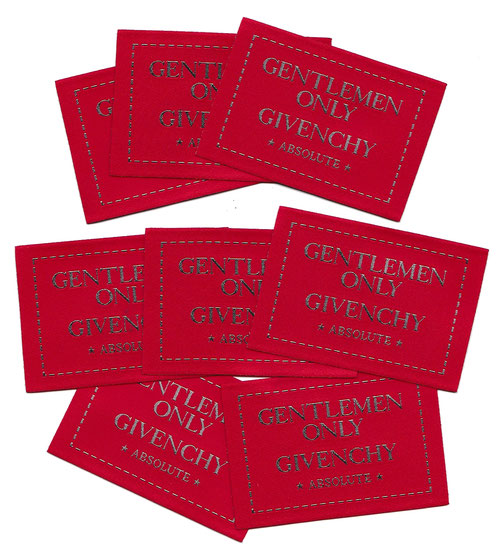 2016 - GENTLEMEN ONLY ABSOLUTE - ETIQUETTES ROUGES EN TISSUS.