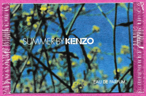 SUMMER BY KENZO - EAU DE PARFUM, CARTE SOUS CELLOPHANE : RECTO