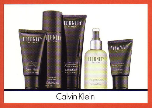 ETERNITY FOR MEN - CARTE ALLEMANDE : RECTO
