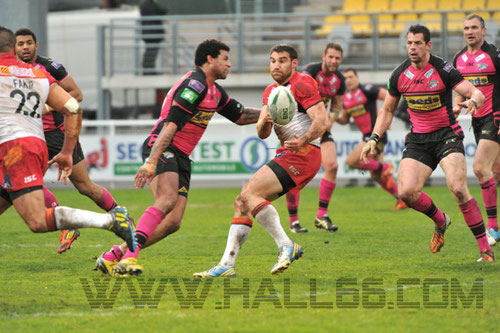 Dragons Catalans Vs Leeds Rhinos- Bailey sera suspendu 4 match pour ce placage haut à retardement sur Thomas BOSC © Hall66