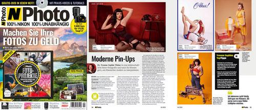 N-Photo das Nikon-Fotomagazin über Moderne Pin-Ups und Pin-Up-Fotografin Yvonne Sophie Thöne