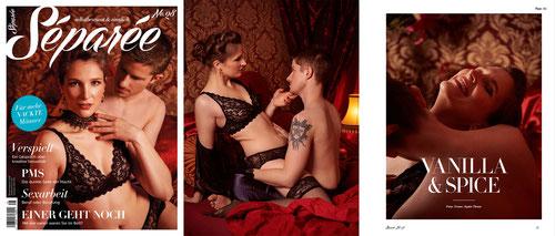 Erotische Paarfotos für Séparée Magazin von Fotografin aus Hessen