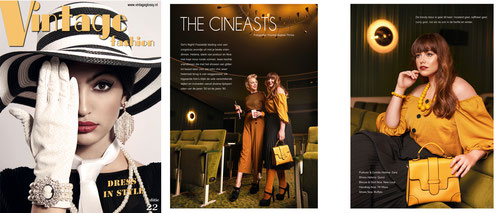 Vintage Fashion (Nederland) - Fashion Editorial and cover by Yvonne Sophie Thöne shot at Gloria Kino Kassel