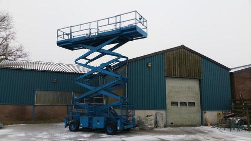 Hoogwerker met kubota diesel werkhoogte 17 meter prijs 6950,- exl btw