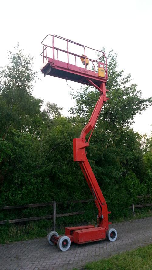 Hoogwerker werkhoogte 6 meter prijs 2450,-
