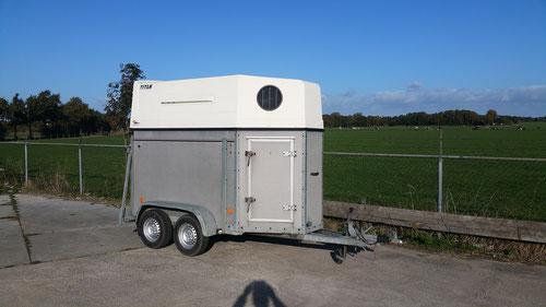 1,5 paards trailer prijs 1650,-
