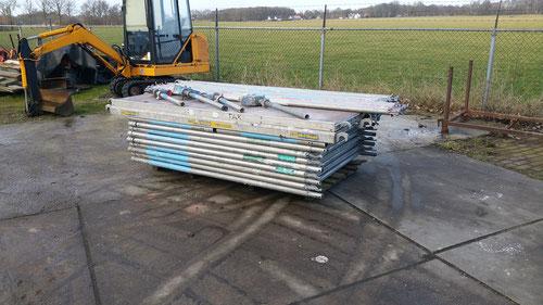 Aluminium rolsteiger werkhoogte 13 meter prijs 1650,-