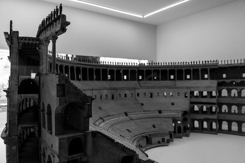 These models indicate the form and size of the Colosseum after opening.