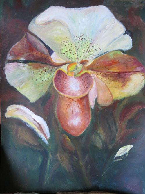 Travail sur le motif pour l'exposition sur les jardins