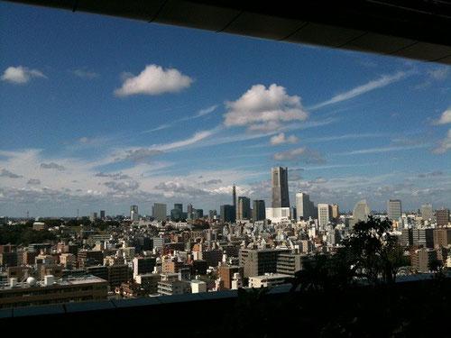 病院の展望ロビーから見た風景(8月12日撮影)