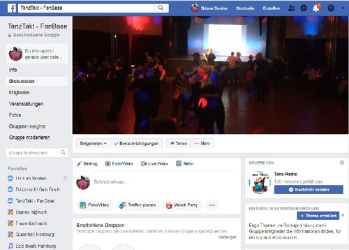 TanzTakt Fan-Base - Facebook Gruppe