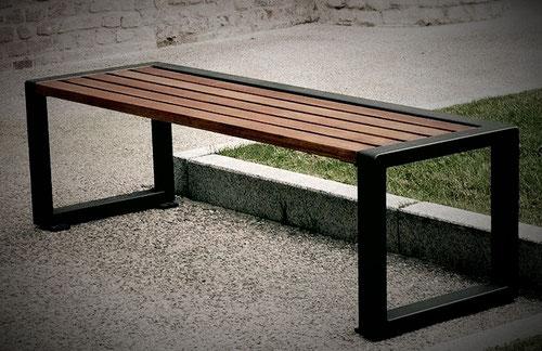 Fabrication de banc et mobilier urbain acier bois sur mesure- Métal Bois Design