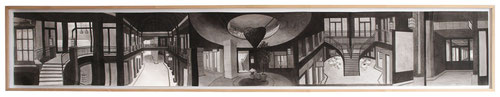_Levantehaus, 198 x 31 cm, Tusche auf Papier, 2003