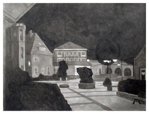 _Marktplatz, 36 x 47 cm, Tusche auf Papier, 2007
