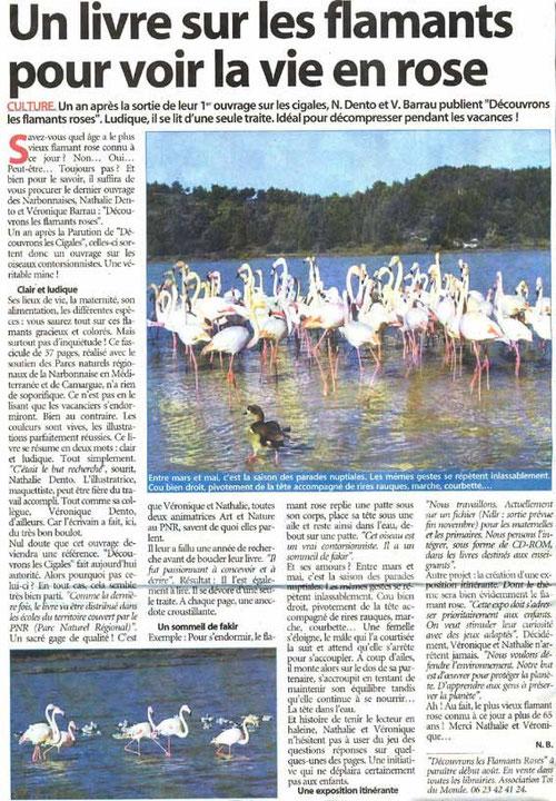 Article paru sur l'Indépendant le 28 juillet 2006  (cliquez sur l'image pour l'agrandir)
