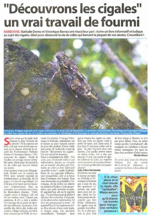 Article paru sur l'Indépendant le 26 juillet 2005 - cliquez sur l'image pour l'agrandir
