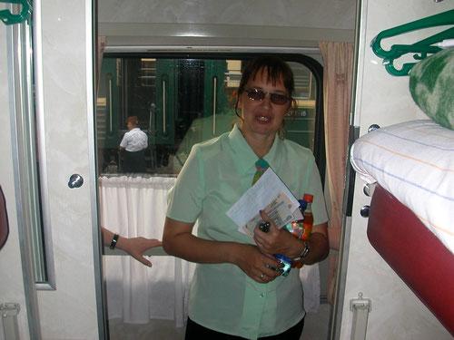 Oxana - die Zugbegleiterin, Transsib Moskau-Omsk