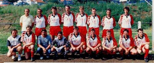 hinten v.l.: Horst Wagner (Vorsitzender), H.G.Jäger, A.Wagner, H.D.Füßenich, H. Bernges, R. Gaul, J.Stoll, M. Wagner, vorne v.l.: M.Seelig, A.Grauel, W.George, J.Hub, H.Müller, B.Leipold, H.Strott,  H.Seelig, R. Larbig