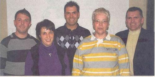der Vorstand in 2009 (v.l. Florian Seelig, Loritta Leipold, Stefan Fehl, Christiane Jägerm Bernd Leipold