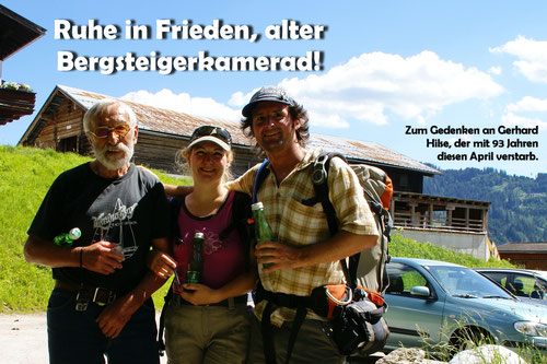2020/04: Zum Gedenken an Gerhard, ein grossartiger Bergsteiger und Mensch.