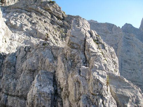 Kletterei auf dem Münchner Weg