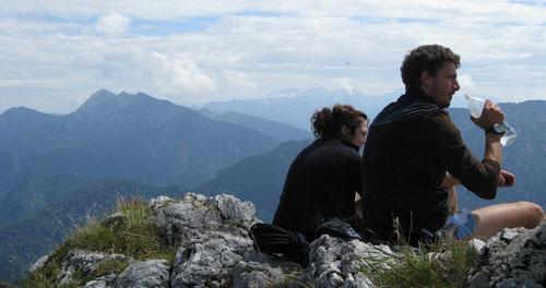 Panoramablick auf dem Gipfel