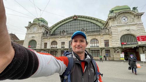 Start am Basler Bahnhof - Los geht's!