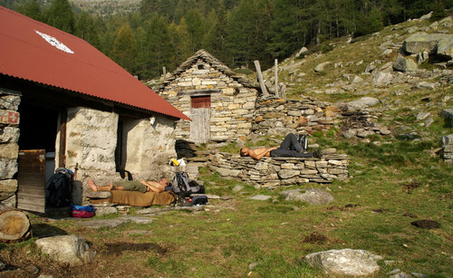 Relaxing auf der Alpe di Peu