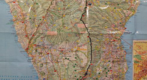 Etappe 4: Pico de la Nieve – El Pilar, Paradetour auf dem Calderakamm mit langem Abstieg, 25km, 5.5h, O