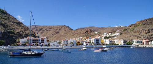 Der Hafen von Playa de Santiago