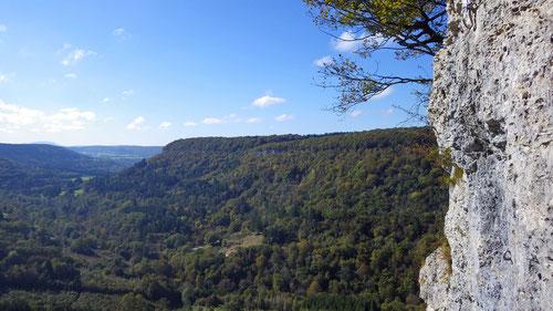 Der phantastische Ausblick aus den Kletterrouten.