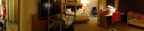 Unsere Suite im Hilton