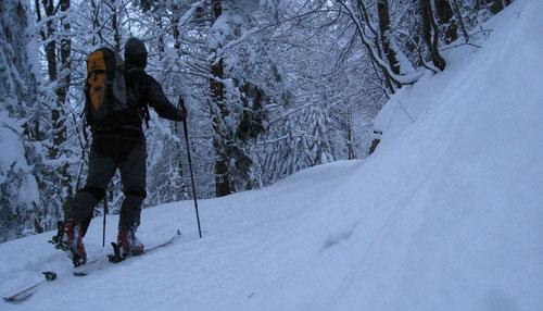 Unterwegs in der Schneelandschaft
