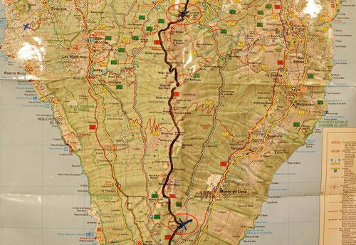 Etappe 5: El Pilar – Los Canarios, Ruta de los Volcanes, 18km, 8.5h, TELO
