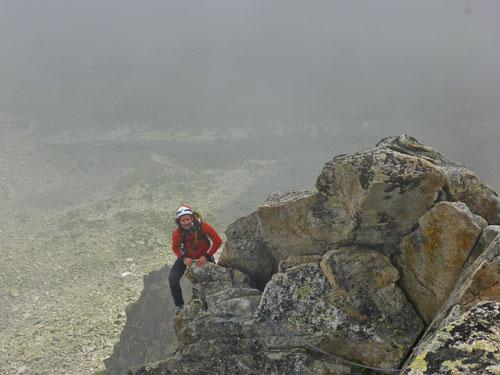 Olli am SE-Pfeiler des Bergseeschijen