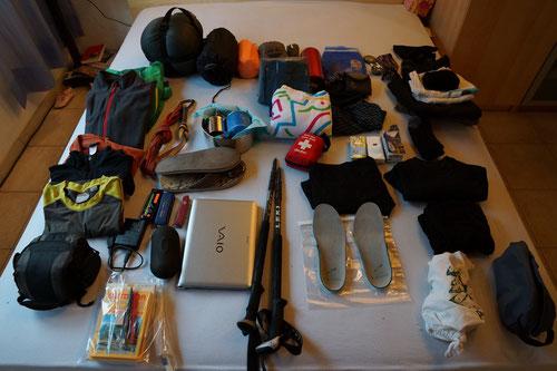 Das muss alles in den Rucksack!