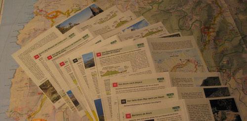 Kopieren und Studium der Wanderpfade