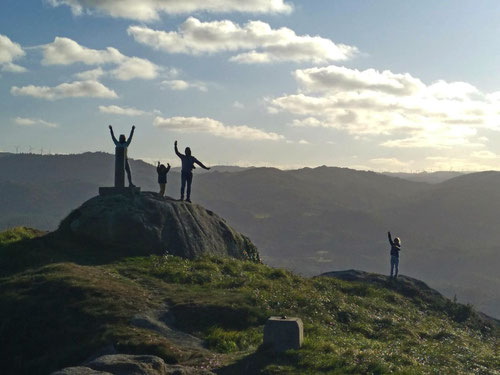 Am Gipfel des Pico da Frouseira.