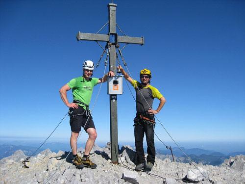 Beim Läuten der Ostwandglocke. Watzmann Südspitze 2712m