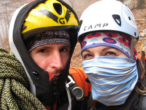 Bei guten Bedingungen kann jeder Klettern - die Motivation ist ungetrübt