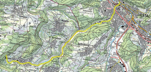 Der Weg des Orisbachs.