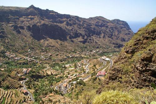 Der wunderbare Blick ins Valle Gran Rey. Was hatten wir schon alles zurück gelegt.