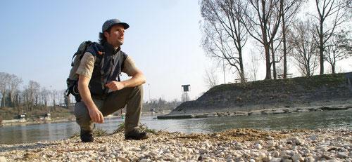 Start der Wanderung an der Birsmündung in den Rhein