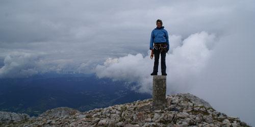 Auf dem Gipfel des Hohen Gölls (2522 m)