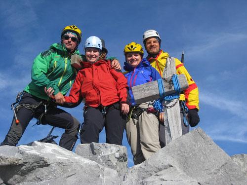 Obligates Gipfelfoto