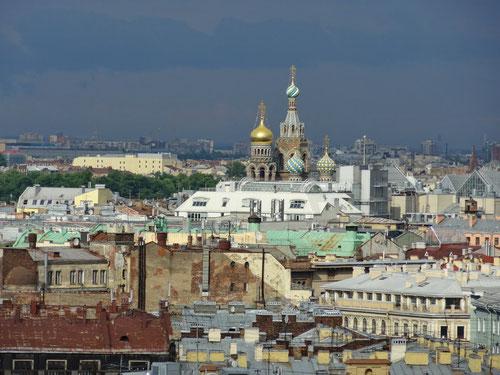 Ausblick von der Isaak-Kathedrale.